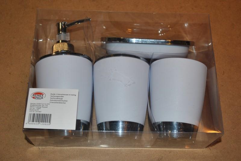 Bad utensilien set 4 tlg von reinex einrichtung badezimmer for Utensilien bad